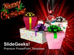 Pile Of Gift Boxes Christmas Holiday PowerPoint Templates Ppt Backgrounds For Slides 1112