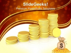 Piles Of Golden Coins Exchange PowerPoint Templates And PowerPoint Themes 0912