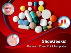 Pills Collage Health PowerPoint Themes And PowerPoint Slides 0411