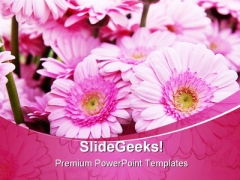 Pink Bouquet Beauty PowerPoint Backgrounds And Templates 0111