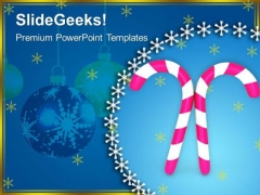 Pink Candy Cane Festival PowerPoint Templates Ppt Backgrounds For Slides 1212