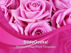 Pink Rose Abstract Beauty PowerPoint Templates And PowerPoint Backgrounds 0411
