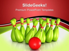 Pins Knock Down Game PowerPoint Templates And PowerPoint Themes 0512