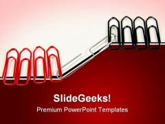 Pins Tie Together Communication PowerPoint Themes And PowerPoint Slides 0811