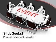 Plan A Event With Group Disscusion Business PowerPoint Templates Ppt Backgrounds For Slides 0413