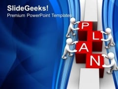 Plan Is Neccesary In Business PowerPoint Templates Ppt Backgrounds For Slides 0513