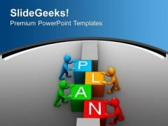 Plan To Work As Team Business Development PowerPoint Templates Ppt Backgrounds For Slides 0513