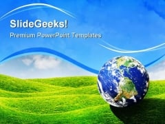 Planet Earth Globe PowerPoint Templates And PowerPoint Backgrounds 0411