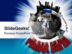 Planet Earth People PowerPoint Backgrounds And Templates 0111