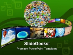 Planet Of Images Globe PowerPoint Templates And PowerPoint Backgrounds 0311