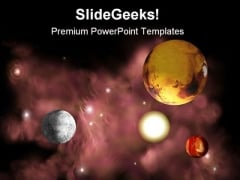 Planets In Space Geographical PowerPoint Templates And PowerPoint Backgrounds 0711