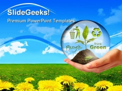 Plant In Hand Nature PowerPoint Themes And PowerPoint Slides 0411