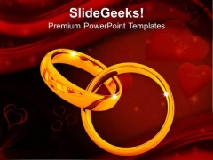 Platinum Wedding Rings Design PowerPoint Templates Ppt Backgrounds For Slides 0213
