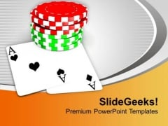 Play Cards And Poker In Casino PowerPoint Templates Ppt Backgrounds For Slides 0513