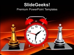 Play Chess With Time Limits PowerPoint Templates Ppt Backgrounds For Slides 0513