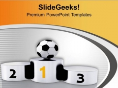 Play Game Of Football And Become Number One PowerPoint Templates Ppt Backgrounds For Slides 0613