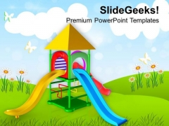 Play Ground For Kids Playing PowerPoint Templates Ppt Backgrounds For Slides 0613
