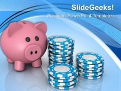 Play Pokar And Earn Money PowerPoint Templates Ppt Backgrounds For Slides 0613