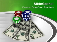 Play Poker And Earn Money PowerPoint Templates Ppt Backgrounds For Slides 0513