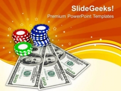 Play Poker In Casino PowerPoint Templates Ppt Backgrounds For Slides 0513