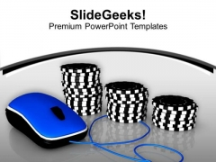 Play Poker Online And Enjoy PowerPoint Templates Ppt Backgrounds For Slides 0513