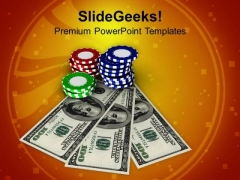 Play Royal Flush Game In Casino PowerPoint Templates Ppt Backgrounds For Slides 0513