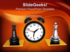 Play The Chess With Time Limit PowerPoint Templates Ppt Backgrounds For Slides 0513