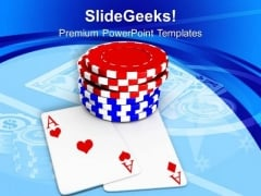 Play The Poker Game In Casino PowerPoint Templates Ppt Backgrounds For Slides 0413