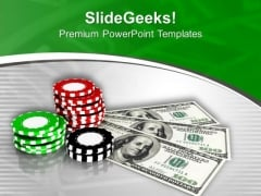 Play The Royal Flush And Win Money PowerPoint Templates Ppt Backgrounds For Slides 0513