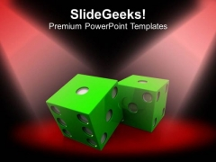 Play With Dices Game PowerPoint Templates Ppt Backgrounds For Slides 0413