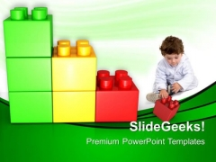 Play With Lego Block Baby PowerPoint Templates And PowerPoint Themes 0512