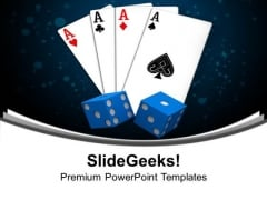 Playing Card Ace With Dices PowerPoint Templates Ppt Backgrounds For Slides 0313