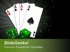 Playing Card With Dices Business PowerPoint Templates Ppt Backgrounds For Slides 0413