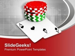 Playing Cards And Poker Chips Game PowerPoint Templates Ppt Backgrounds For Slides 0313