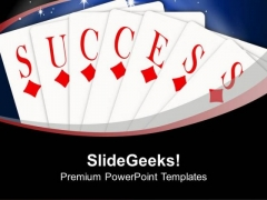 Playing Cards Success Business Concept PowerPoint Templates Ppt Backgrounds For Slides 0313