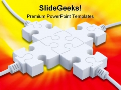 Plugs With Multiple Wires Technology PowerPoint Themes And PowerPoint Slides 0811