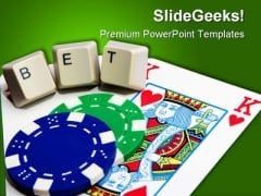 Pocket Betting Button Lifestyle PowerPoint Themes And PowerPoint Slides 0411