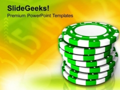Pokar Chips Casino Theme PowerPoint Templates Ppt Backgrounds For Slides 0513