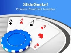 Poker And Playing Cards For Casino PowerPoint Templates Ppt Backgrounds For Slides 0513