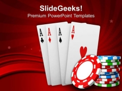 Poker And Playing Cards Game PowerPoint Templates Ppt Backgrounds For Slides 0413