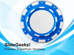 Poker Chip For Game Theme PowerPoint Templates Ppt Backgrounds For Slides 0613