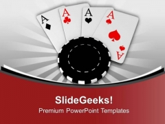 Poker Chips And Cards Game Theme PowerPoint Templates Ppt Backgrounds For Slides 0513