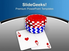Poker Chips For Casino Game Theme PowerPoint Templates Ppt Backgrounds For Slides 0513