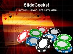 Poker Chips For Gambling Game PowerPoint Templates Ppt Backgrounds For Slides 0513