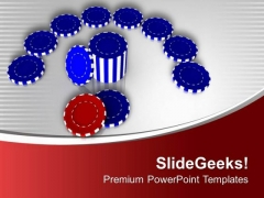 Poker Chips For Royal Casino PowerPoint Templates Ppt Backgrounds For Slides 0513