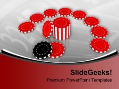 Poker Chips Game PowerPoint Templates Ppt Backgrounds For Slides 0313