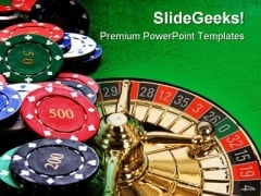Poker Chips Lifestyle PowerPoint Themes And PowerPoint Slides 0511