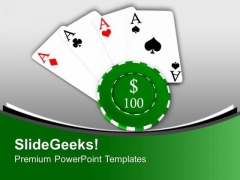 Poker Is A Fun Game PowerPoint Templates Ppt Backgrounds For Slides 0613