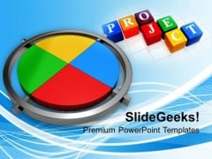 Polygraphic Colorful Cross With Project PowerPoint Templates Ppt Backgrounds For Slides 0213