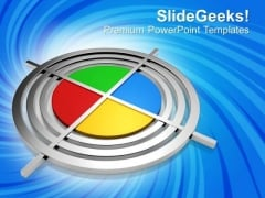 Polygraphic Target Cmyk Success PowerPoint Templates Ppt Backgrounds For Slides 0113